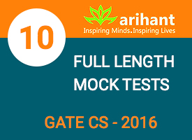 GATE CS 10 Full Length Mock Tests
