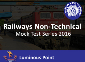 Railways Non-Technical Mock Test Series 2016