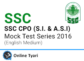 SSC CPO (S.I. and A.S.I) Mock Test Series 2016
