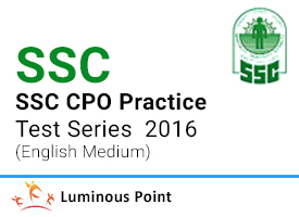 SSC CPO Practice Test Series 2016