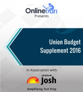 Union Budget Supplement 2016
