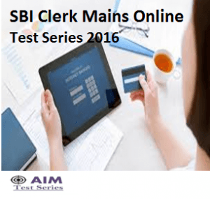 SBI Clerk Mains Mock Test Series 2016