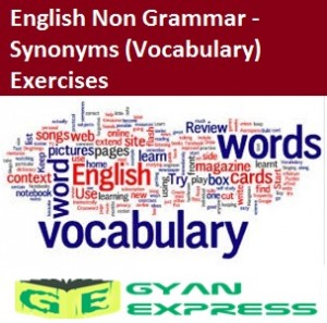 English Non Grammar - Synonyms Vocabulary Exercises
