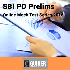 SBI PO Prelims Mock Test Series 2016