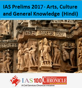 IAS Prelims 2017 - Arts Culture and GK Test Hindi