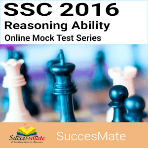 SSC 2016- Reasoning Ability Online Mock Test Series