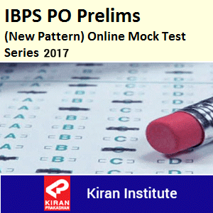 IBPS PO Prelims New Pattern Online Mock Test Series 2017