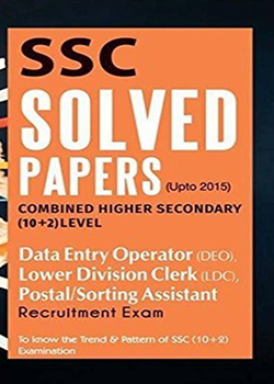 SSC Solved Papers CHSL 10+2 DEO LDC  Postal Sorting Assistant Recruitment Exam