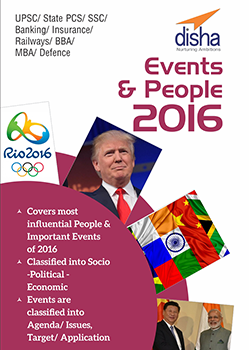 Top Events and People 2016 - General Awareness and Current Affairs Vol. 1 for Competitive Exams