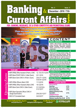 Banking and Current Affairs December 2016