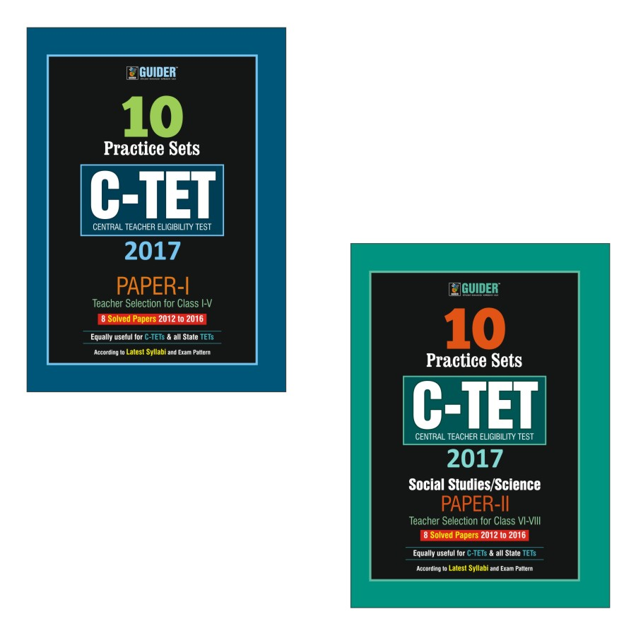 Combo of CTET Paper I and II 10 Practice Sets set of 2 books English
