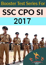 Booster Test Series for SSC CPO SI 2017
