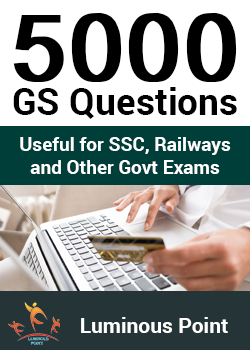 5000 GS Questions for Competitive Exams