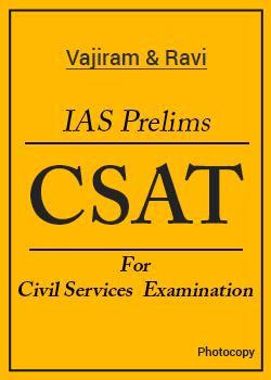 Vajiram and Ravi CSAT Prelims Photocopy Notes Set of 7 Books by