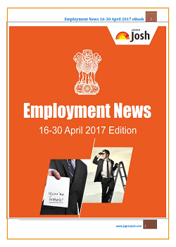 Employment News 16-30 April 2017