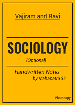 Sociology Optional Class Notes by Mahapatra Sir