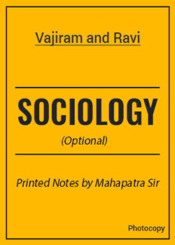 Sociology (Optional) Printed Notes by Mahapatra Sir