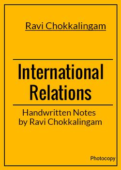 International Relations by Ravi Chokkalingam by Bhardwaj Books