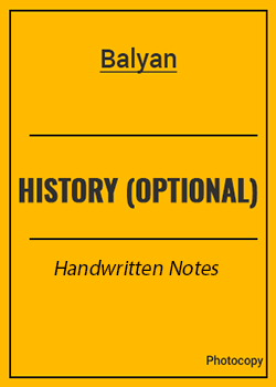 History optional Class Notes by Balyan