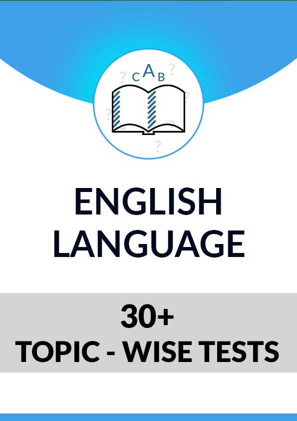 English Language topic wise tests - Hindi Medium